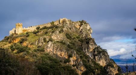 Image of beautiful castle Cornatel in Castilla y Leon, Spain