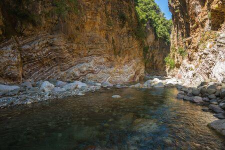 karpenisi: Mountain river gorge near Panta Vrexei in Evritania in Greece