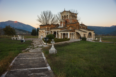 Image of church at Ancient Mantineia, Arcadia, Peloponnese, Greece