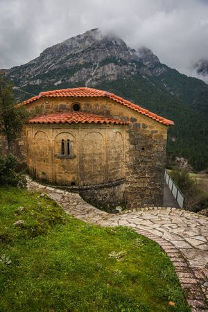 Image of Small church at  side of road on Peloponnese in Greece