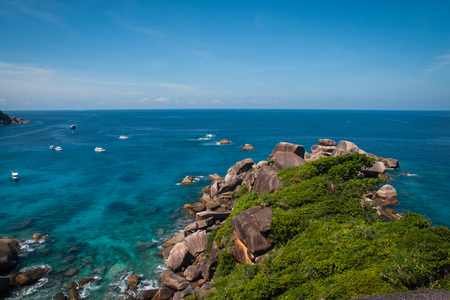 Scenic and beautiful seascape at Similan islands, Thailand Stock Photo