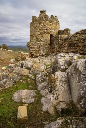 image ot ruins of the castle at El Berueco, Andalusia, Spain Stock Photo