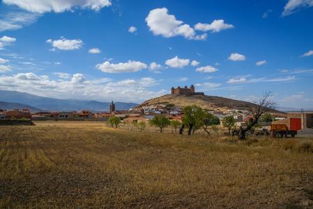 Image of Castle  Lacalaora, Granada, Andalusia, Spain Stock Photo