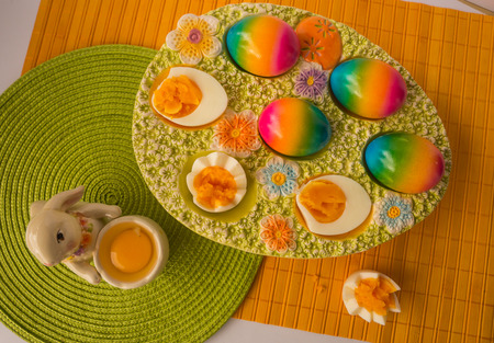 Image of colorful painted Easter eggs, Athens, Greece