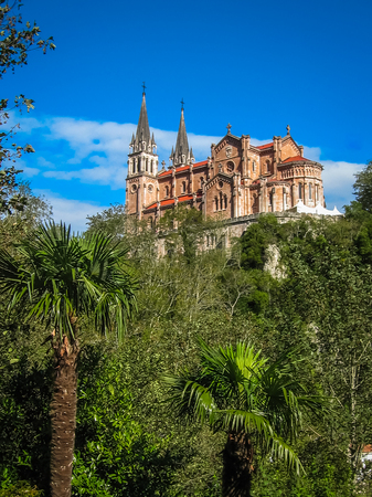 Image of beautiful church at Covadonga in Asturia in Spain