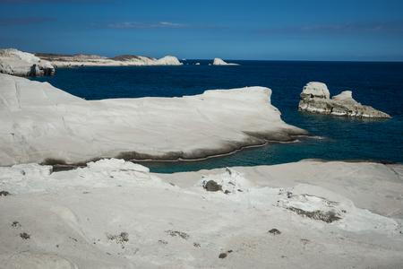 Image of Moonscape beach Sarakiniko, Milos, Greece