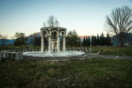 Image of Ancient Mantineia, Arcadia, Peloponnese, Greece Stock Photo