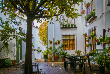 western european: Cityscape in white town Priego de Cordoba in Andalucia in Spain Stock Photo