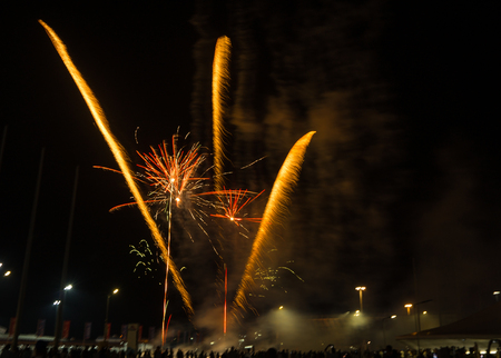Image of Fireworks in Olympic park in Sochi in Russia
