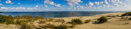 Scenic seascape on Curonian Spit in  Kaliningrad Region, Russia