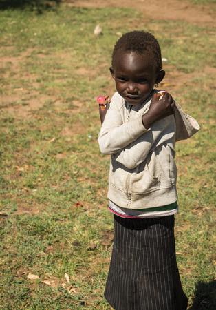 Masai village, Kenia - Novembre 01, 2017, Children of Masai village, Kenia Éditoriale