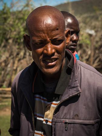 Masai village, Kenia - Novembre 01, 2017, Young man of Masai village, Kenia Éditoriale