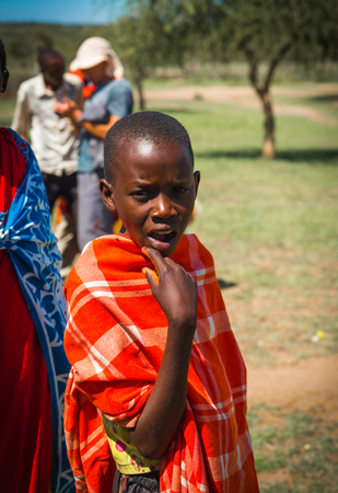 Masai village, Kenia - Novembre 01, 2017, Woman of Masai village, Kenia