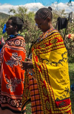 Masai village, Kenia - Novembre 01, 2017, Residents of Masai village, Kenia Éditoriale