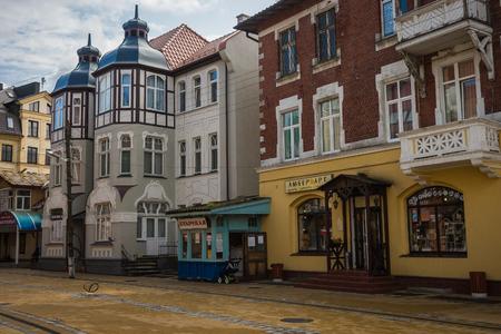 Zelenogradsk, Russia - August 28, 2017,  Streets of Zelenogradsk, Kaliningrad region, Russia