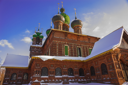 Image of church of St. John the Baptist in Tolchkovo in Yaroslavl, Russia