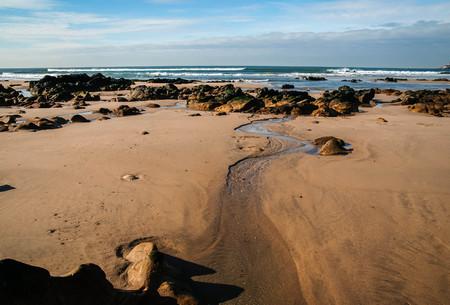 Beautiful and unique seascape at Castelejo beach in Portugal