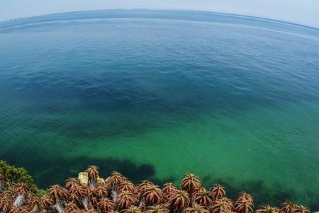Image of beautiful seascape at Portino de Arabida in Portugal