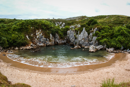 Image of Gulpiuri beach, Asturia y Cantabria, Spain Stock Photo