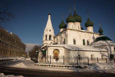 Image of Church of  Savior on  city of Yaroslavl in Russia Stok Fotoğraf