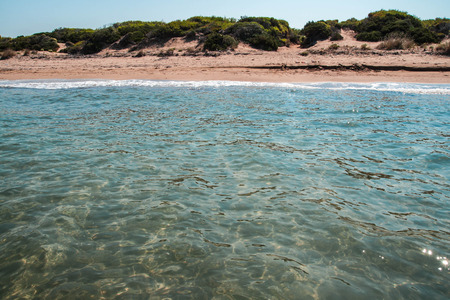 Beautiful landscape with a sea at Kalogria on Peloponnese in Greece Stock Photo