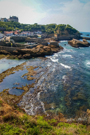 Image of a beautiful seascape at Biarritz, France 写真素材