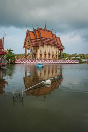 Wat Plai Laem temple  at Koh Samui in  Surat Thani in Thailand Фото со стока