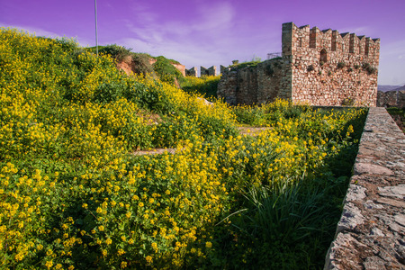 Ruins of ancient fortress in Nafplion on Peloponnese in Greece Stock Photo