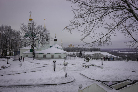 City landscape in one of cities of Golden Ring of Russia Vladimir