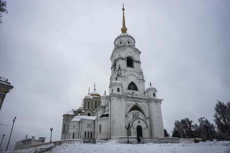 Image of Assumption Cathedral in Vladimir in winter in Russia