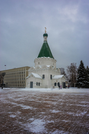 Image of Cathedral of  Archangel Michael in  Kremlin of Nizhny Novgorod 免版税图像