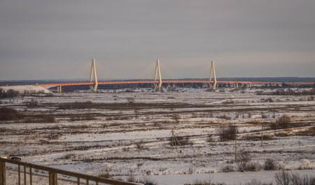 Image of new bridge in Murom, recognized as most beautiful bridge in Russia
