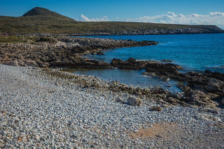 Seascape in inner Mani on Peloponnese in Greece Banco de Imagens