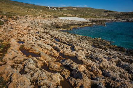Seascape in inner Mani on Peloponnese in Greece 免版税图像