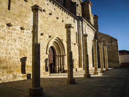 Image of ruined castle at Fuente de Valdepeno in province of Leon in Castilla y Leon in Spain