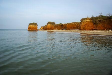 Deserted beach near Torre Guacheto in Puglia in Italy