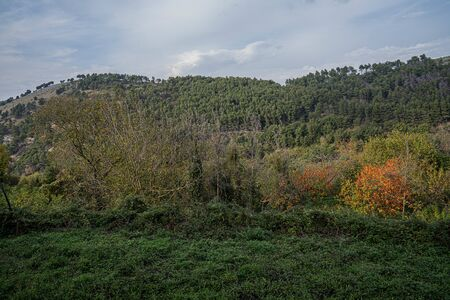 Early autumn in the mountains  at Caserta Veccia in Campania in Italy Stock fotó