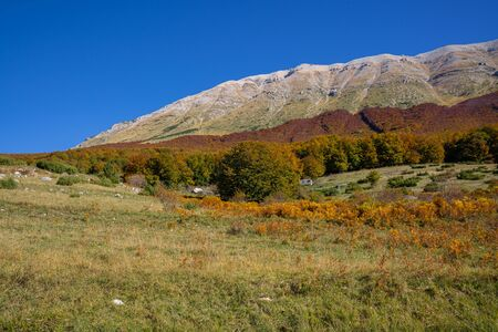 Image of early autumn in the mountains of Abruzzo, Italy
