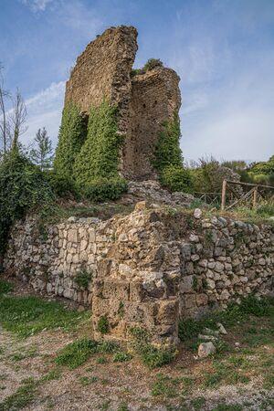 Ruins of castle at Caserta Veccia in Campania in Italy Stock Photo