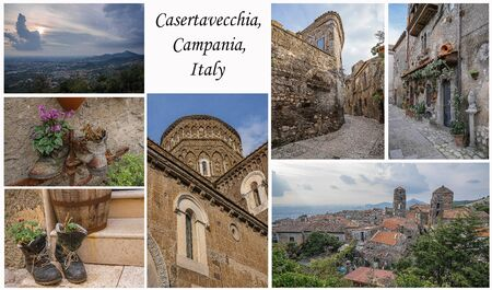 Collage of photos with cityscape at Caserta Veccia, Campania, Italy on white background. All photos can be purchased separately on my page. Reklamní fotografie