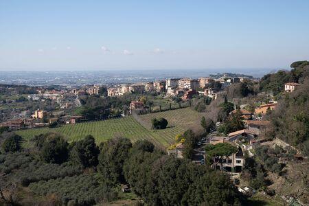 Cityscape in Ariccia in Lazio in Italy