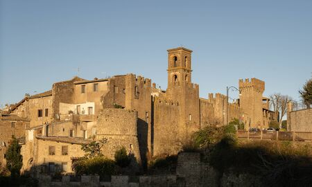 Scenic view to the city of Vitorchiano in Lazio in Italy