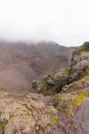 Image of Vesuvius Crater in the clouds in cloudy weather, Italy Reklamní fotografie
