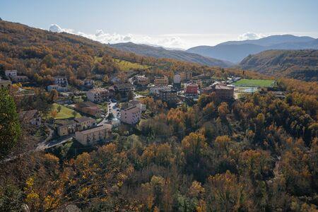 Cityscape in medieval town of Cerro al Volturno in Molise in Italy