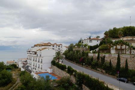 Scenic cityscape with sea view at Herradura, Andalusia, Spain Stock Photo