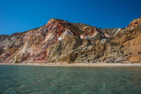 Firiplaka beach and it's beautiful natural colors, Milos, Greece