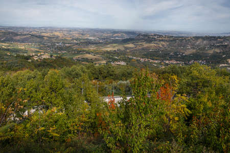 Autumn landscape in Abruzzo mountains in Italy