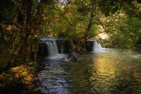 Waterfall Monte Gelato in Lazio in Italy