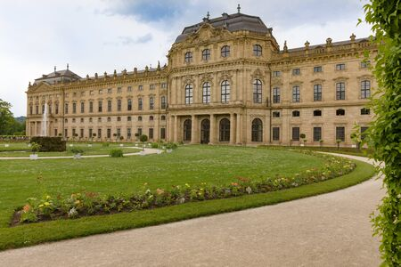 View of the Residenz in Wuerzburg Germany through the pergola