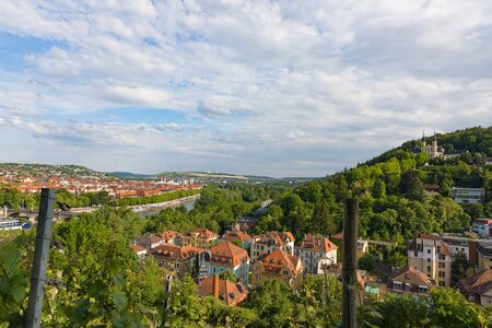 WUERZBURG, GERMANY - May, 20, 2018: Panorama view of the Wuerzburg old town Bavaria Germany Editorial